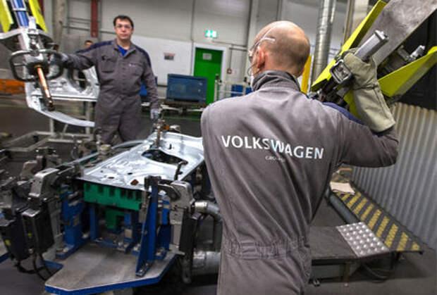 На заводе Volkswagen в Калуге началась забастовка