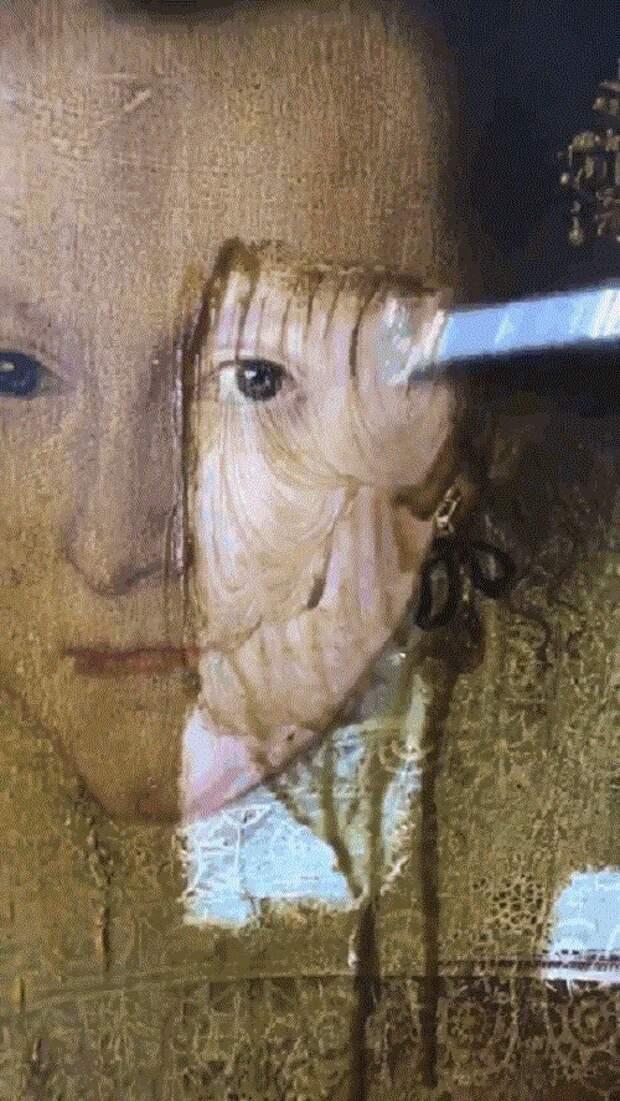 Реставратор удалил пожелтевший лак с 400-летней картины. Посмотри, что он увидел!