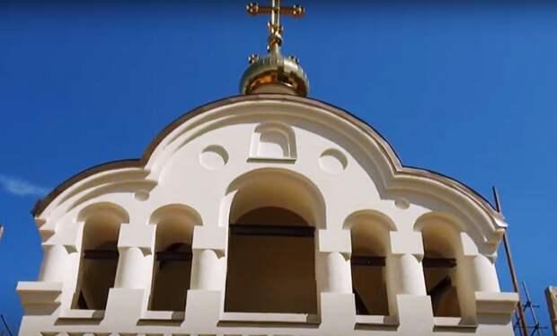 Видео: храмовый комплекс Николая Мирликийского в Щукине почти построен