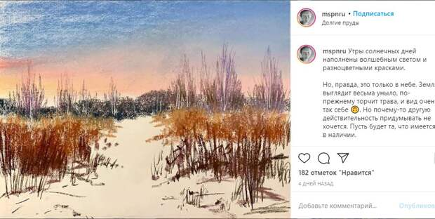 Серия художницы «300 видов Долгих прудов» пополнилась новыми пейзажами