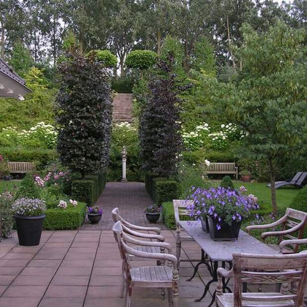 Идеи дизайна садовых двориков