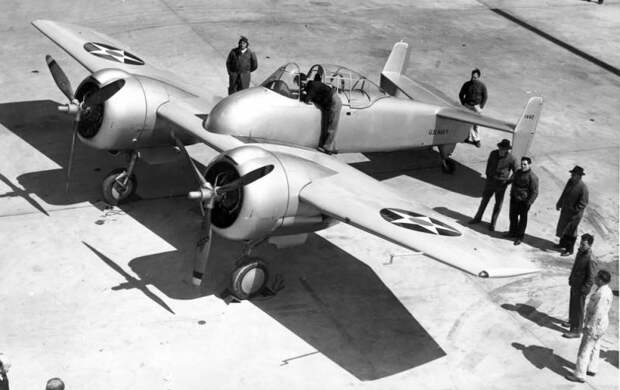 Палубный истребитель Grumman XF5F Skyrocket (США)