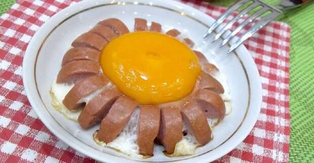Красивый способ приготовить яичницу