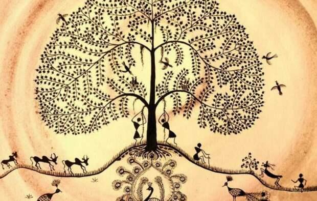 Совершенно очевидно, что дуб про который писал Пушкин - это отсылка к славянской версии иггдрасиля. /Фото: vk.com.