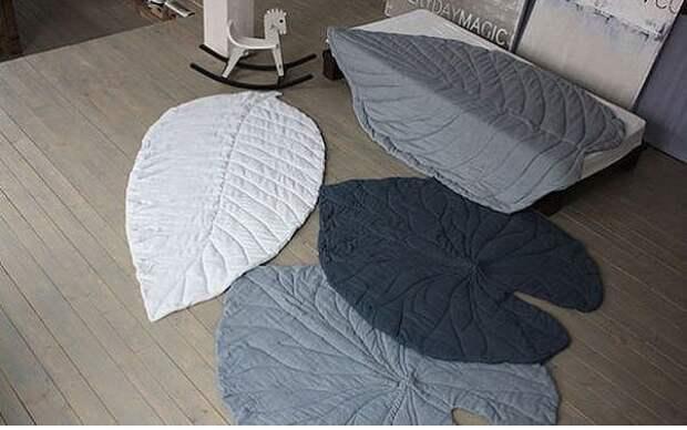 Текстильные листья украсят интерьер и заменят ковер