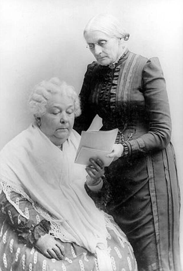 Элизабет Кэди Стентон и Сьюзен Энтони. <br>