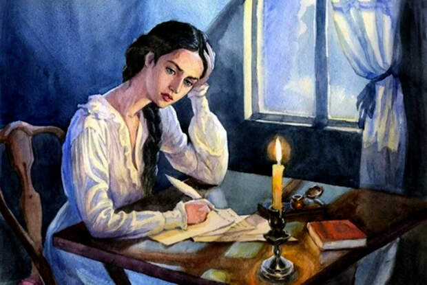Татьяна Ларина. Иллюстрация
