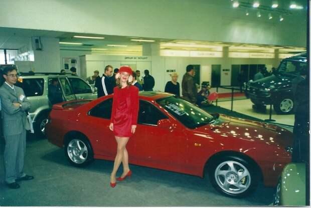 Это новая Honda Prelude. автовыставка, автосалон, выставка, ретро фото