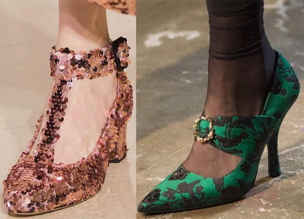Красивые туфли на каблуке 2018