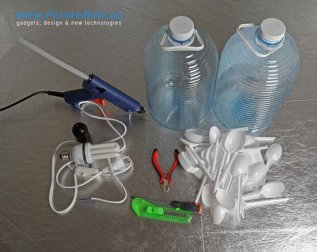 diylamps06 21 идея изготовления светильников и люстр из повседневных предметов