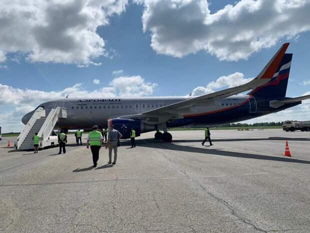 Первый рейс «Airbus A320» прилетел в Ижевск
