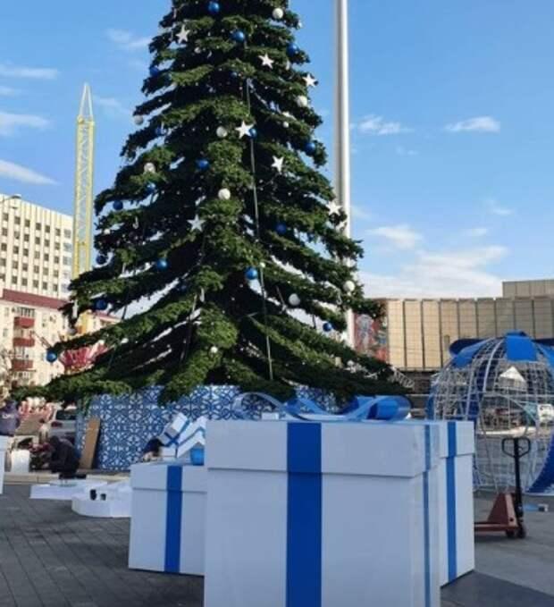 В Краснодаре вандалы повредили декор главной городской елки