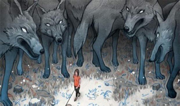 Как победить если напала стая волков
