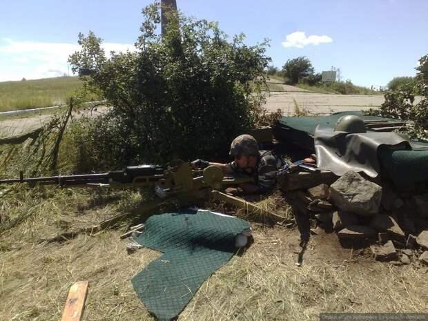 Позиция пулемёта ополченцев