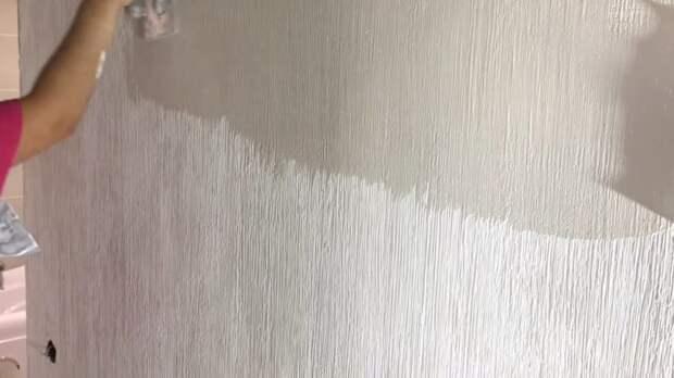 Декор стены под мешковину — очень просто и красиво