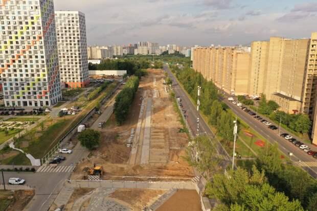 Фото дня: вид с квадрокоптера на новый сквер в Отрадном