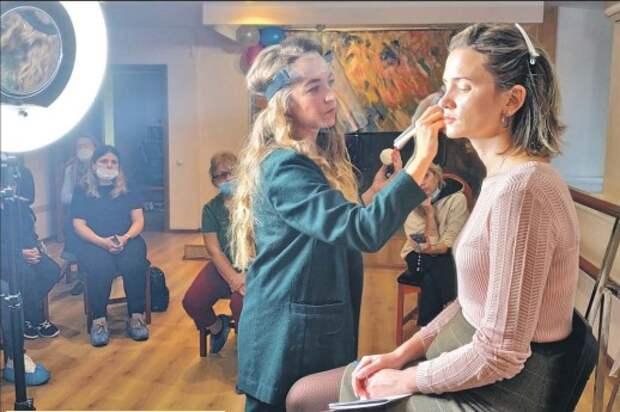 Известный визажист провела мастер-класс в ДК «Берендей»