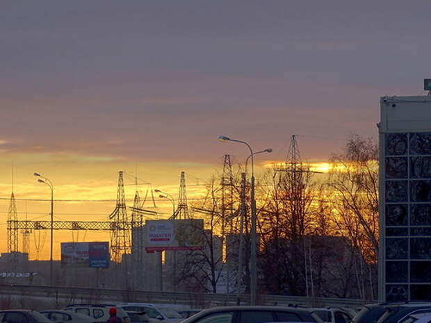 Настоящий HDRI - закат в Старой Трёхгорке