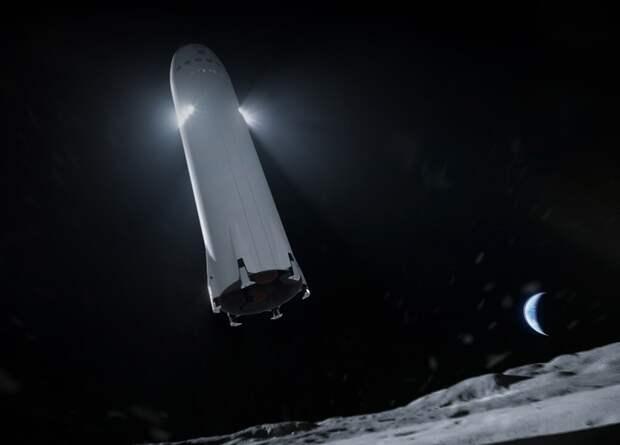 Лунная версия Starship полетит в один конец