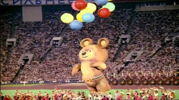 Олимпийский мишка улетел