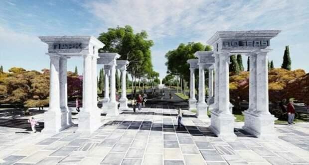 В парке Победы Севастополя протестировали фонтаны
