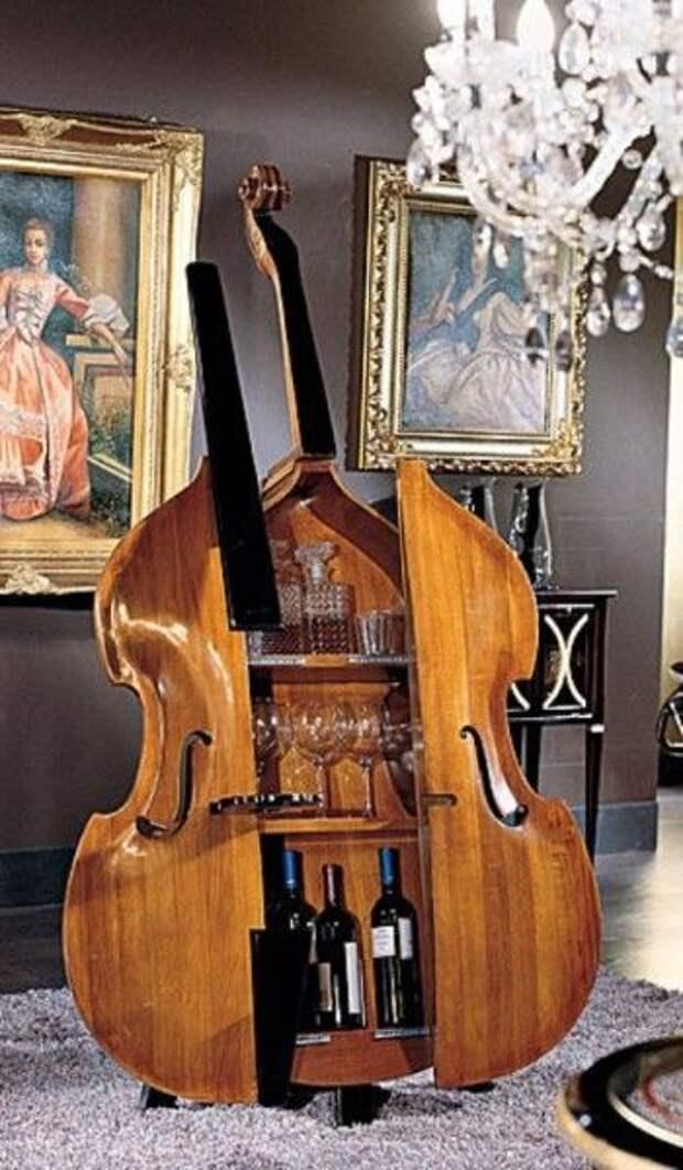 Сабвуфер и другие идеи использования  в быту остовов гитары или скрипки