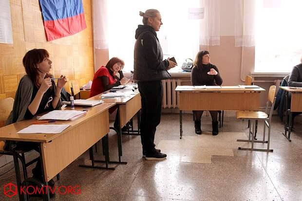 Избирательный участок №444 (школа №17) Выборы в Крыму 2018
