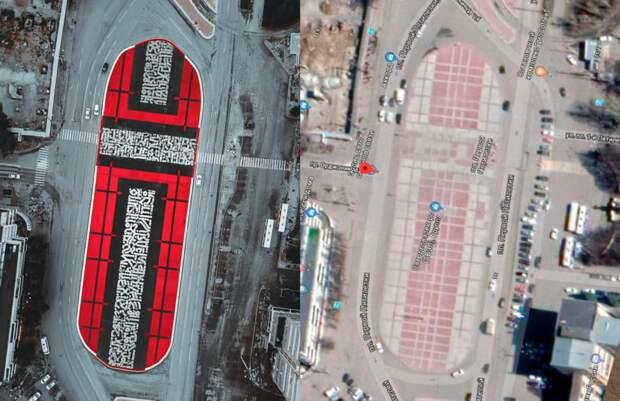 Поврежденный арт-объект «Супрематический крест» восстановили в Екатеринбурге