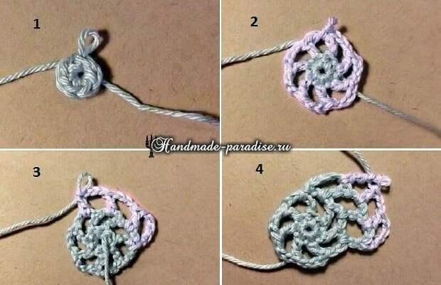 Корзинка из веревки с обвязкой крючком. Красивая идея для рукоделия.