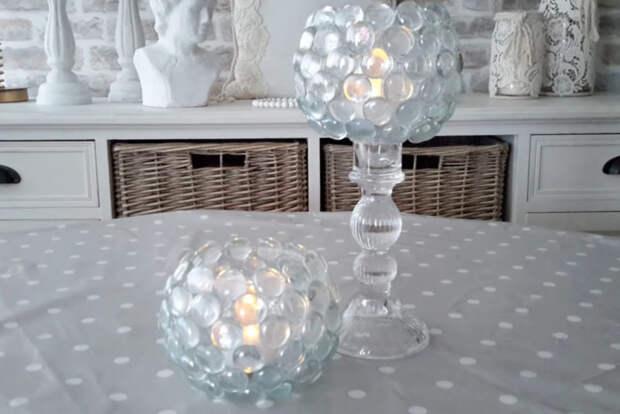 Гламурный декор с помощью стеклянных камней