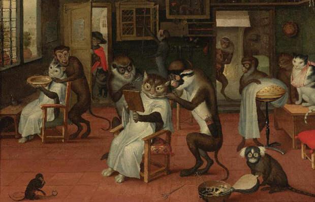 14 роскошных и забавных котов на полотнах знаменитых художников разных времён
