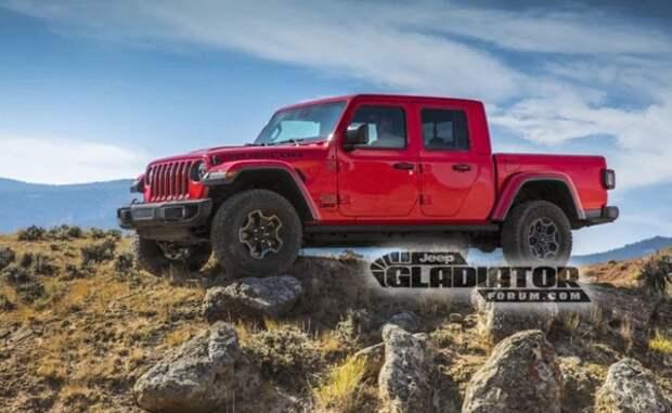 В Сеть попали первые фото новейшего пикапа Jeep Gladiator