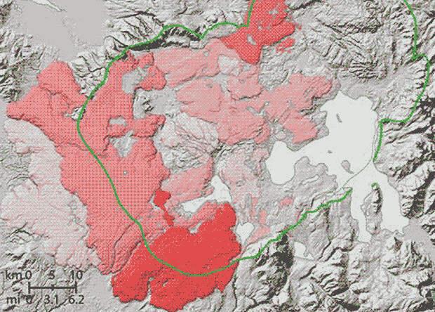 Йеллоустонский супервулкан запустил две «вулканических зимы»