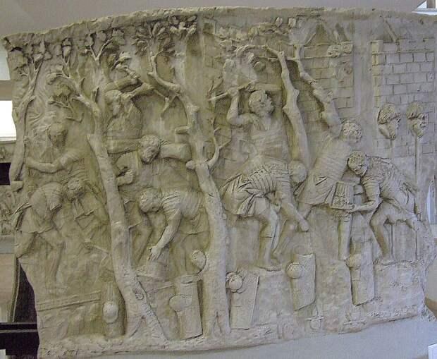 Строительство дороги, изображённое на колонне Траяна. eh-resources.org - Все дороги ведут в Рим | Warspot.ru