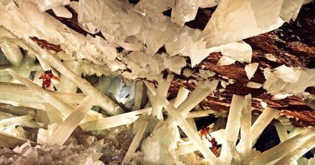 Пещера кристаллов в Чиуауа, Мексика