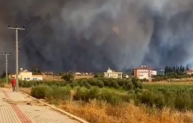 При крупном пожаре в Анталье пострадали 53 человека