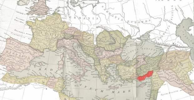Карта Римской империи.