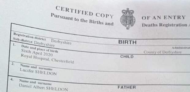 Английская семья отвоевала учиновников свое право назвать сына Люцифером