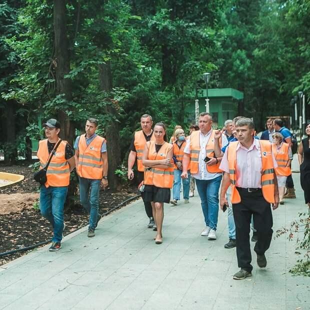 11 площадок обустроили в детской зоне нижегородского парка «Швейцария»