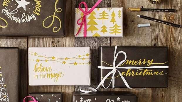 Упаковки подарков с надписями (подборка)