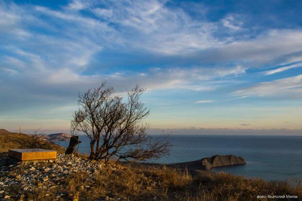 На фото: могила поэта и художника Максимилиана Волошина на вершине горы Кучук-Янычар.
