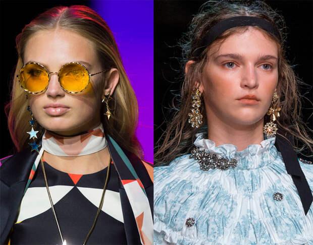 Разные серьги в паре – модная тенденция