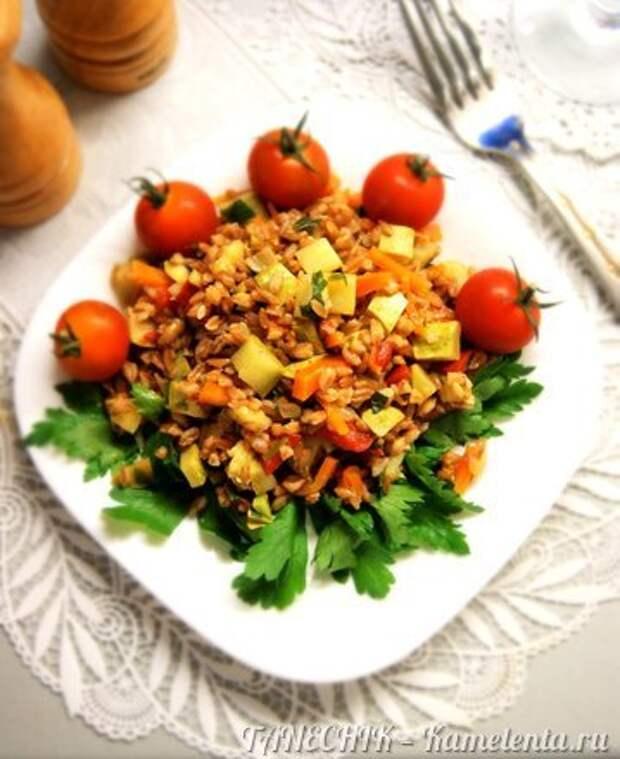 Приготовление рецепта Полба с овощами шаг 8