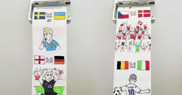 Евро-2020 попал на туалетную бумагу