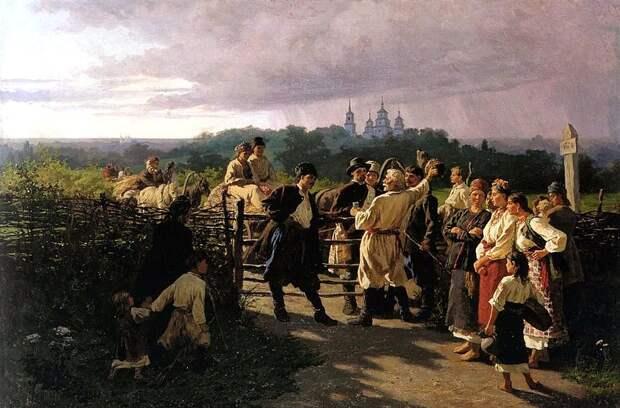 Празднование понедельника в Малороссии