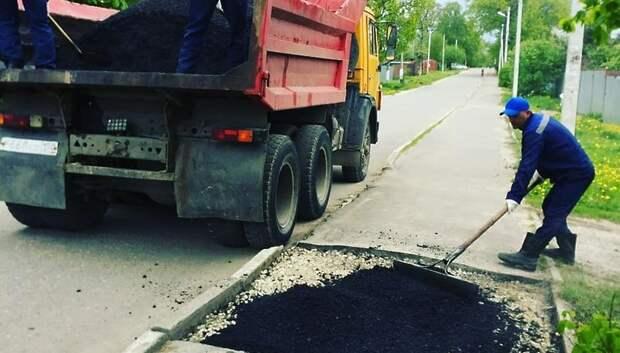 Тротуары начали ремонтировать в микрорайоне Львовский Подольска