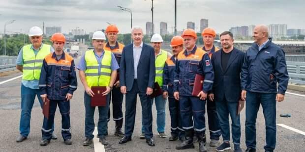 Собянин открыл путепровод на участке ЮВХ от Рязанского проспекта до ТТК