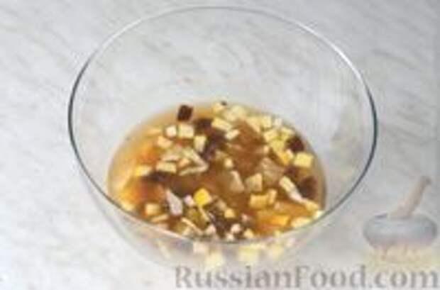 Фото приготовления рецепта: Цитрусовая окрошка на светлом пиве - шаг №7