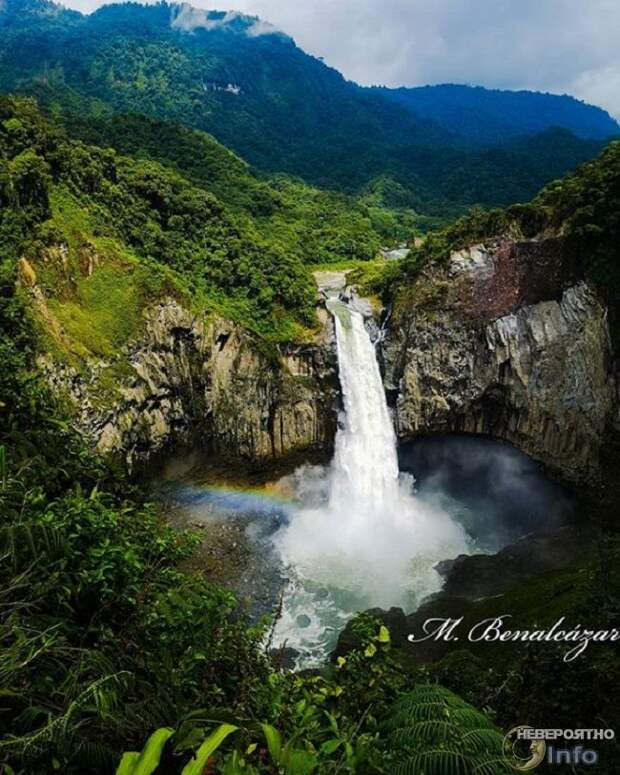 В Эквадоре исчез огромный водопад (фото)