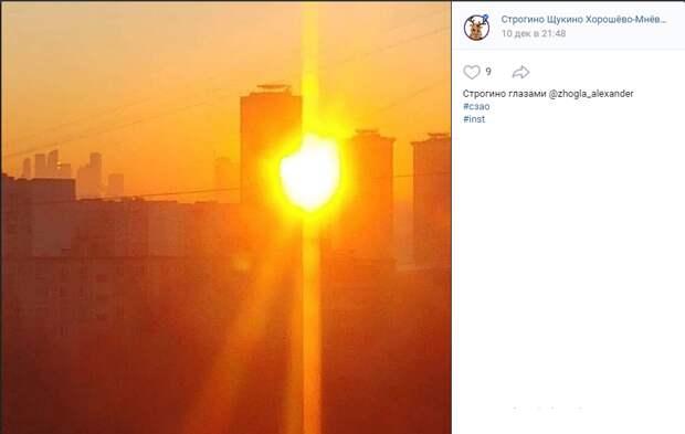 Фото дня: озорное солнце